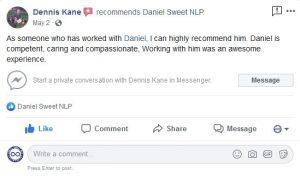 Dennis Kane Review of Daniel Sweet NLP
